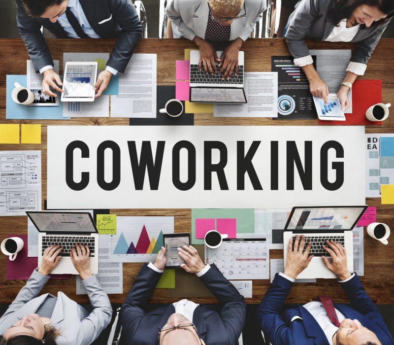 Illustration d'un espace coworking